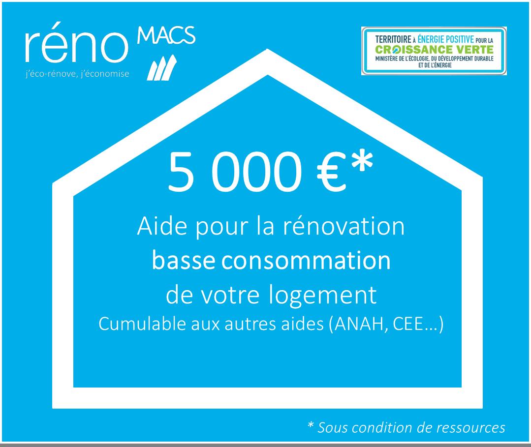 Aide de 5000 € de MACS pour la rénovation basse consommation